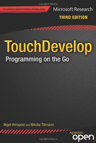 Large book cover: TouchDevelop: Programming on the Go