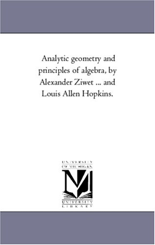 Large book cover: Analytic Geometry and Principles of Algebra