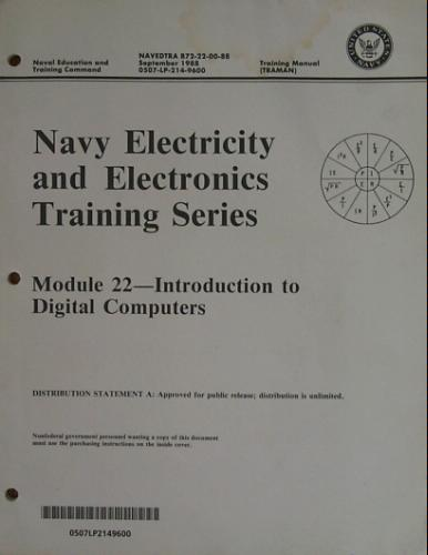 Large book cover: United States Navy Electricity and Electronics Training Series