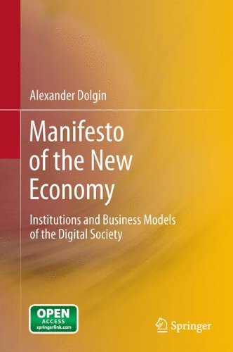 Large book cover: Manifesto of the New Economy: Institutions and Business Models of the Digital Society