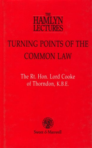 Large book cover: Turning Points of the Common Law