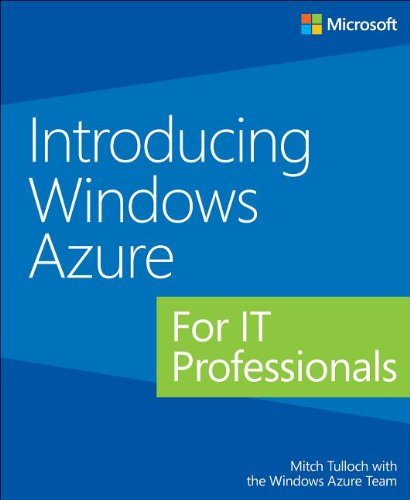 Large book cover: Introducing Windows Azure for IT Professionals