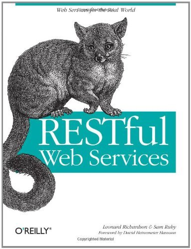 Large book cover: RESTful Web Services