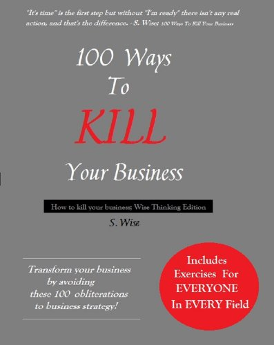Large book cover: 100 Ways To Kill Your Business