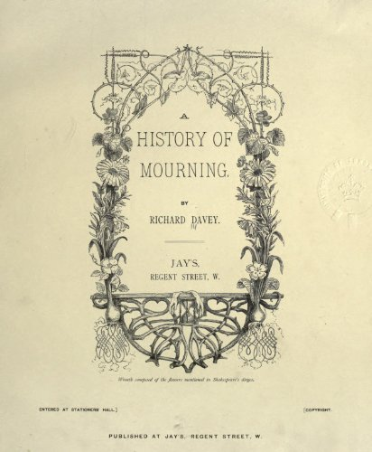 Large book cover: A History of Mourning