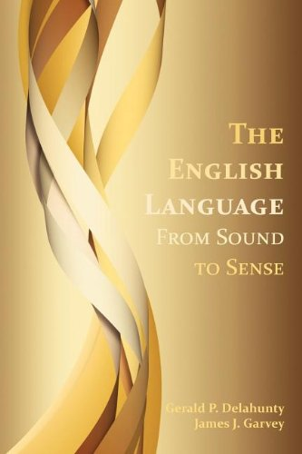Large book cover: The English Language: From Sound to Sense