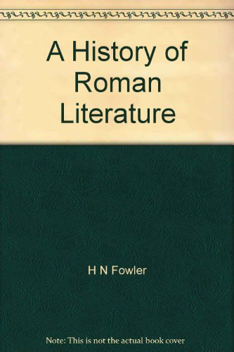 Large book cover: A History of Roman Literature