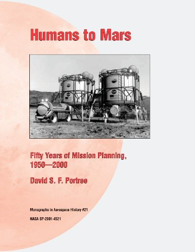 Large book cover: Humans to Mars: Fifty Years of Mission Planning, 1950-2000