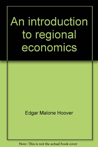 Large book cover: An Introduction to Regional Economics