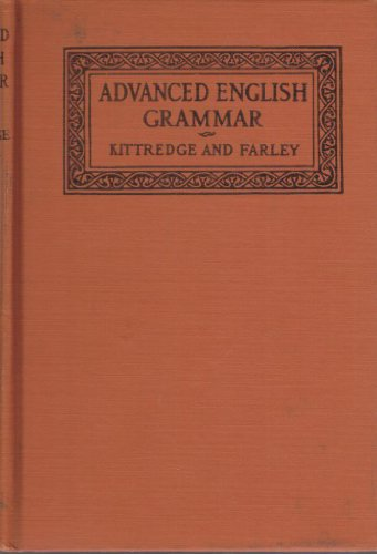 Large book cover: An Advanced English Grammar with Exercises