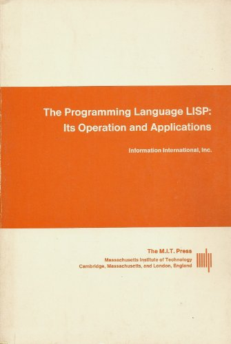 Large book cover: The Programming Language LISP: Its Operation and Applications