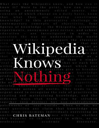 Large book cover: Wikipedia Knows Nothing