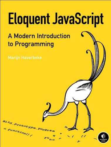 Large book cover: Eloquent JavaScript: An opinionated guide to programming