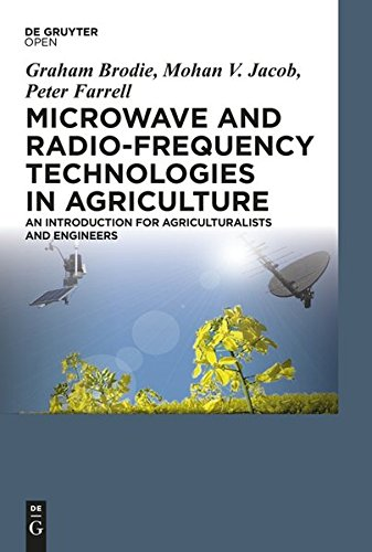 Large book cover: Microwave and Radio-Frequency Technologies in Agriculture