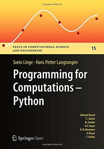 Large book cover: Programming for Computations - Python