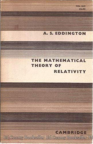 Large book cover: The Mathematical Theory of Relativity