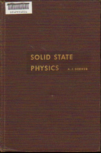 Large book cover: Solid State Physics