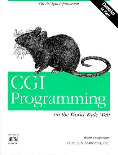Large book cover: CGI Programming on the World Wide Web