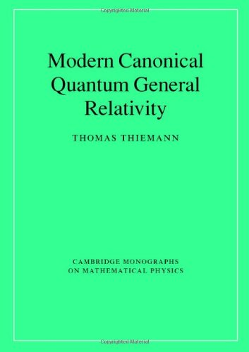 Large book cover: Introduction to Modern Canonical Quantum General Relativity