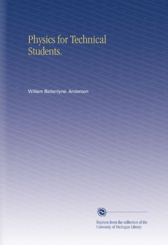 Large book cover: Physics for Technical Students