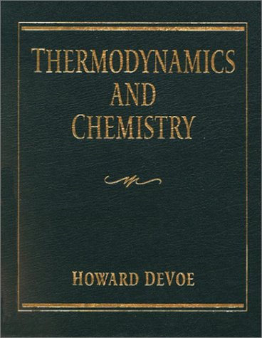 Large book cover: Thermodynamics and Chemistry