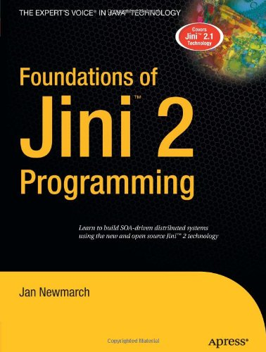 Large book cover: Foundations of Jini 2 Programming