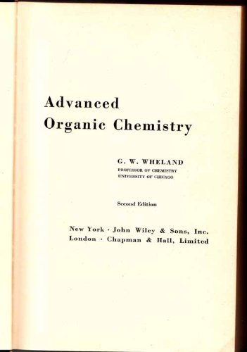 Large book cover: Advanced Organic Chemistry