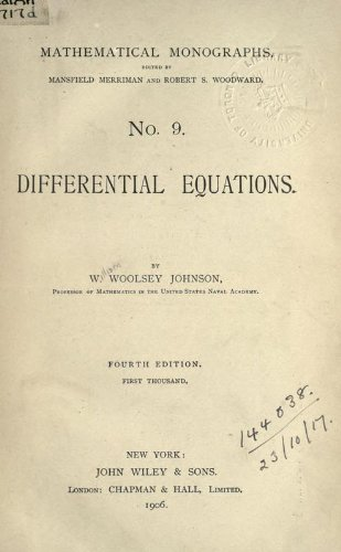 Large book cover: Differential Equations