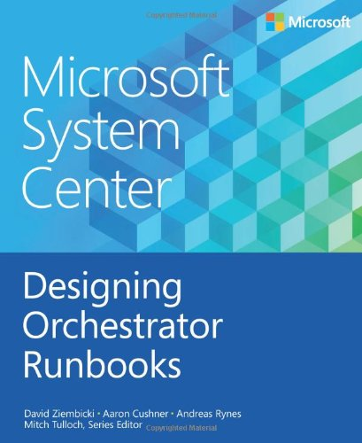 Large book cover: Microsoft System Center: Designing Orchestrator Runbooks
